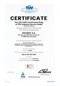 Cruzber Certyfikat