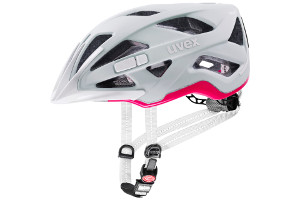 Kask rowerowy Uvex City Active kolor papyrus-neonpink mat w rozmiarze 56-60 cm + lampka LED