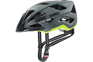 Kask rowerowy Uvex City Active kolor anthracite-lime mat w rozmiarze 56-60 cm + lampka LED